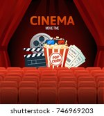 cinema  movie time  concept.... | Shutterstock .eps vector #746969203