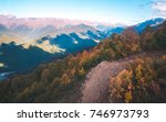 ski tracks and colorful autumn... | Shutterstock . vector #746973793