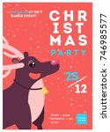 christmas party poster template ...   Shutterstock .eps vector #746985577