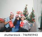 beautiful asian girlfriends... | Shutterstock . vector #746985943