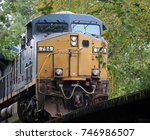 front of diesel locomotive on a ... | Shutterstock . vector #746986507