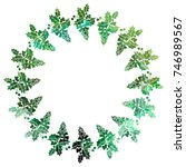 round christmas frame with...   Shutterstock .eps vector #746989567