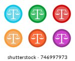 set of rounded colorful buttons ... | Shutterstock . vector #746997973