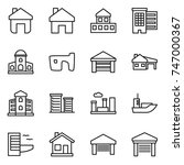 thin line icon set   home ... | Shutterstock .eps vector #747000367