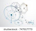 mechanical scheme  vector... | Shutterstock .eps vector #747017773