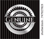 genuine silver badge or emblem | Shutterstock .eps vector #747027823