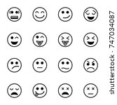 set of emoticon vector isolated ...