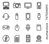 gadget and device icons | Shutterstock .eps vector #747034093