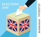 election day in united kingdom. ... | Shutterstock .eps vector #747035713