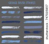 modern watercolor daubs set ... | Shutterstock .eps vector #747035857