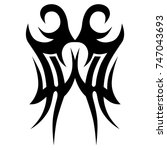 tattoo tribal vector design....   Shutterstock .eps vector #747043693