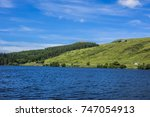view of lake guery. lake guery... | Shutterstock . vector #747054913