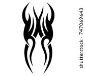 tattoo tribal vector design.... | Shutterstock .eps vector #747069643