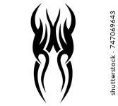 tattoo tribal vector design.... | Shutterstock .eps vector #747069643
