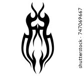 tattoo tribal designs. sketched ... | Shutterstock .eps vector #747069667