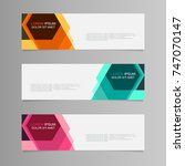 banner background. modern... | Shutterstock .eps vector #747070147