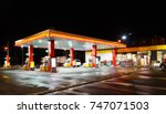 petrol gas station station at... | Shutterstock . vector #747071503