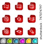 modern set of design elements.... | Shutterstock . vector #747074797