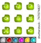 modern set of design elements.... | Shutterstock . vector #747074827