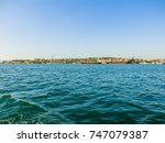 military navy ships in a sea... | Shutterstock . vector #747079387
