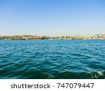 military navy ships in a sea... | Shutterstock . vector #747079447