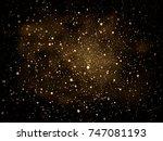 vector gold glitter particles... | Shutterstock .eps vector #747081193