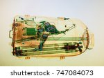 real x ray image of the... | Shutterstock . vector #747084073