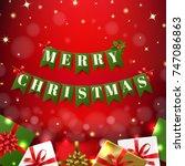 christmas banner  | Shutterstock . vector #747086863