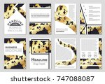abstract vector layout... | Shutterstock .eps vector #747088087