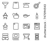thin line icon set   funnel ... | Shutterstock .eps vector #747094543