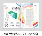 abstract vector layout... | Shutterstock .eps vector #747094633
