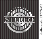 stereo silvery emblem or badge   Shutterstock .eps vector #747097657