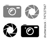 camera vector icons on white... | Shutterstock .eps vector #747127567