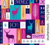 christmas bright seamless...   Shutterstock .eps vector #747129703