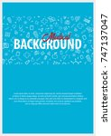 medical poster. medical care.... | Shutterstock .eps vector #747137047