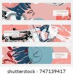 hand drawn creative universal... | Shutterstock .eps vector #747139417