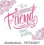 vector illustration. happy... | Shutterstock .eps vector #747141817