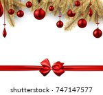 new year background with red... | Shutterstock .eps vector #747147577