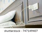 adapter for smartphone charging ... | Shutterstock . vector #747149407