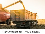 agricultural machinery... | Shutterstock . vector #747155383
