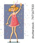 flapper party girl from the... | Shutterstock .eps vector #747167533