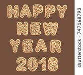 the inscription from ginger... | Shutterstock .eps vector #747168793