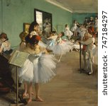 the dance class  by edgar degas ... | Shutterstock . vector #747184297