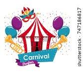 happy carnival design | Shutterstock .eps vector #747186817