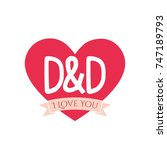 D And D Letter Inside Heart Fo...