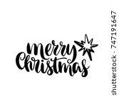 merry christmas quote  vector... | Shutterstock .eps vector #747191647