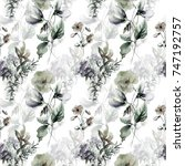 seamless pattern with... | Shutterstock . vector #747192757