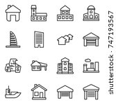 thin line icon set   home ... | Shutterstock .eps vector #747193567