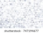 grey triangle abstract... | Shutterstock .eps vector #747194677