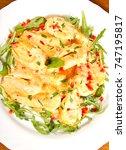 shrimp with garlic butter sauce | Shutterstock . vector #747195817